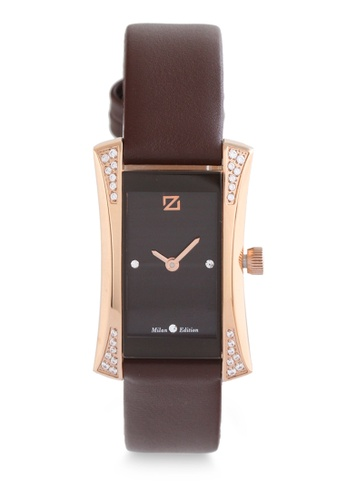 ZECA brown Zeca Watches Ladies Fashion Leather Analog - 149LD Brown Rosegold ZE260AC0H99TSG_1