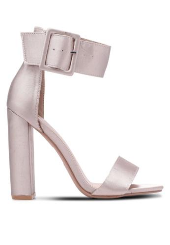 Velvet gold Satin Ankle Heels B571CSHB5AC9D4GS_1