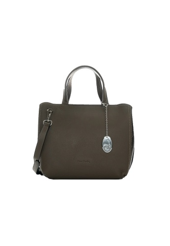 Pierre Cardin grey and brown Blaise Tote Bag 72D2AACE21C22CGS_1