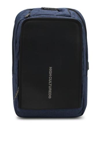 High Cultured blue Waterproof Backpack HI002AC0SPD4MY_1