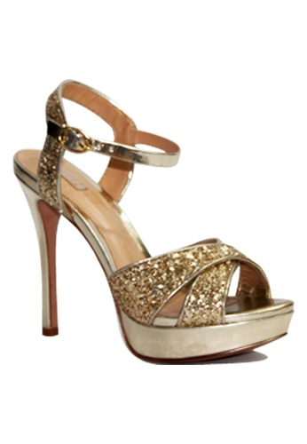 Covet gold Schutz Gabrielle High Heeled Sandals CO331SH47EMIPH_1