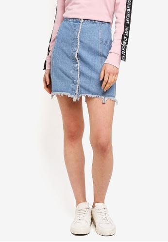 ESPRIT blue Denim Mini Skirt 9F920AA37D62B7GS_1