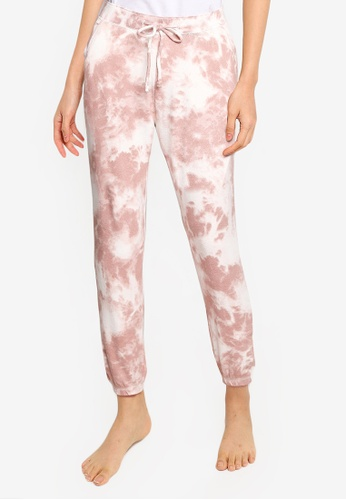 Hollister brown Gilly Hicks Printed Cozy Jogger Pants 0E792AA1566A2FGS_1