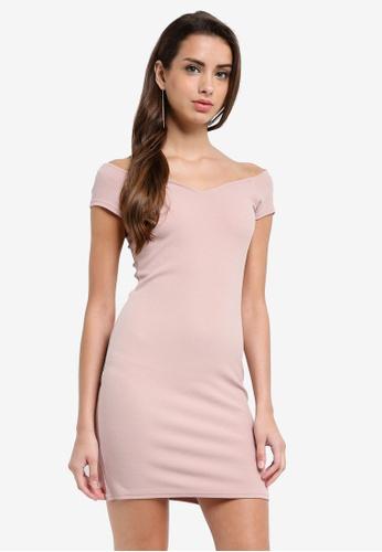 Miss Selfridge pink Dusty Pink Sweatheart Dress A9CF4AA45C3D5DGS_1