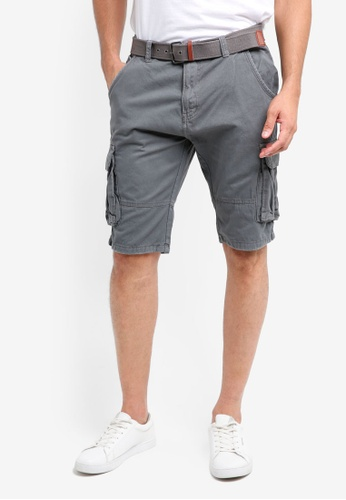 Indicode Jeans grey Monroe Cargo Shorts With Belt 9E0D0AA232D0D3GS_1