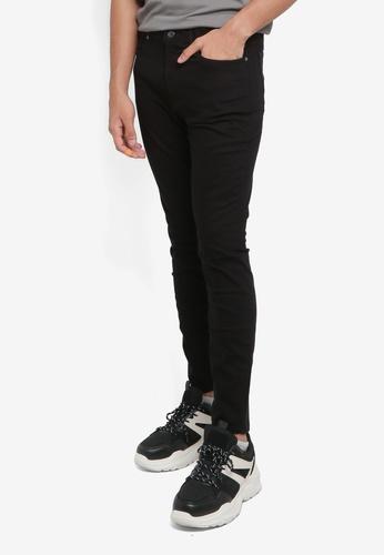 H&M black Twill Trousers Skinny Fit 4063FAA4DE2CA2GS_1