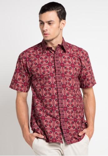 Batik Indra Loka red Short Sleeve Kelir 05E4DAA496FFB7GS_1