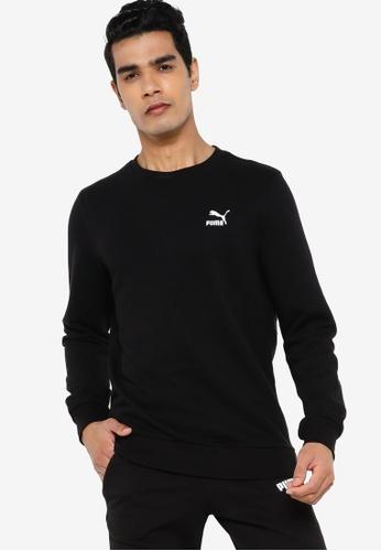 Puma black Classics Embro Crew Neck Men's Sweatshirt 1B20AAAB9B9137GS_1
