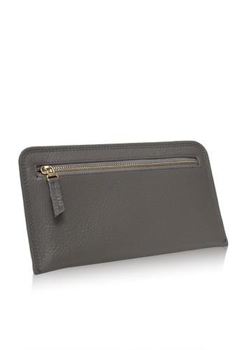 Dazz grey Calf Leather Zipped Wallet - Grey DA408AC28VDBMY_1