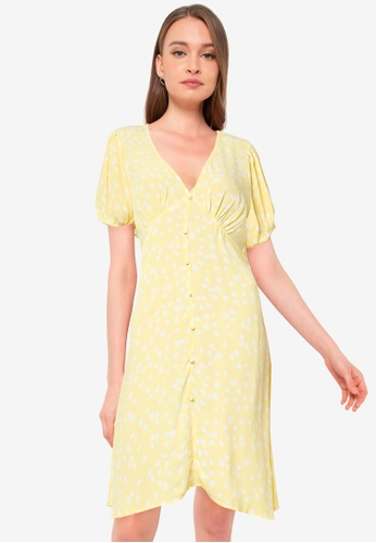 Cotton On yellow Woven Essential Button Front Mini Dress 02217AA4AFD6D8GS_1
