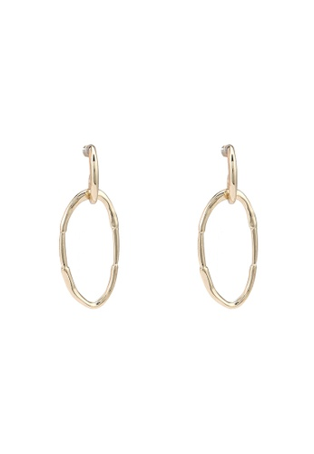 niko and ... gold Oval Dangle Earrings 63B85AC33755CBGS_1