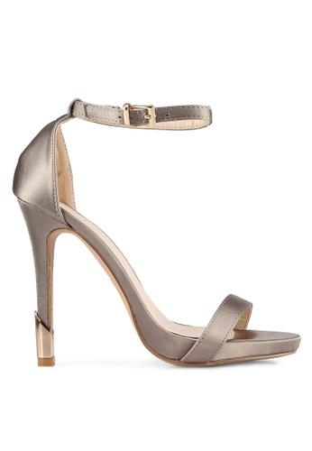 Something Borrowed beige Satin Open Toe Heel 44C2CSHE249444GS_1