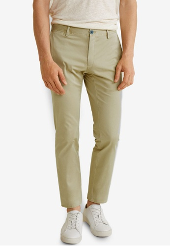 Mango Man 米褐色 Slim-Fit Chinos Trousers 8A7D7AA73506FDGS_1