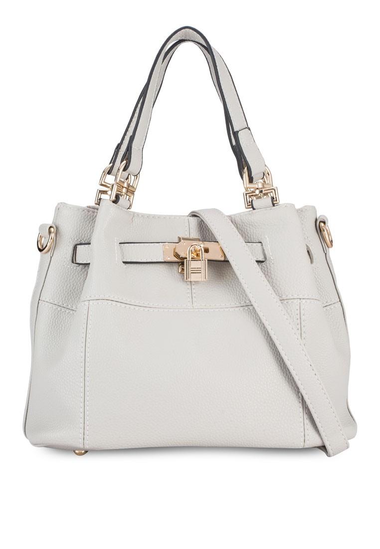 Pebbled Texture Convertible Bucket Bag