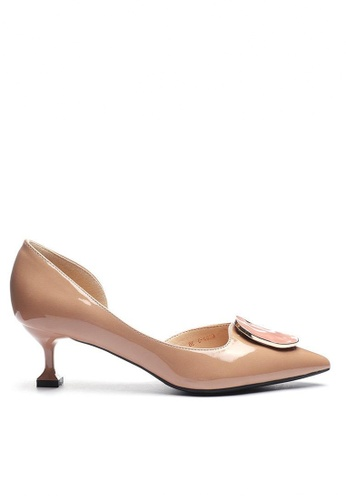 Twenty Eight Shoes 方扣漆皮空幫高踭鞋6203-47 FAC4BSH67A77B9GS_1