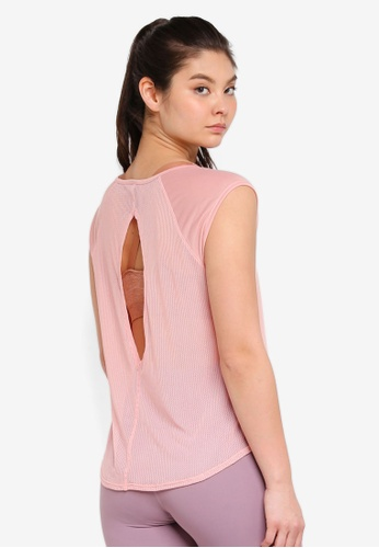 Cotton On Body pink Split Back T-Shirt B504AAAC0903EFGS_1