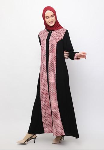 Karina Design red Monalisa Abaya Kawung Kecil Batik Dress 3BD25AA40C1C33GS_1