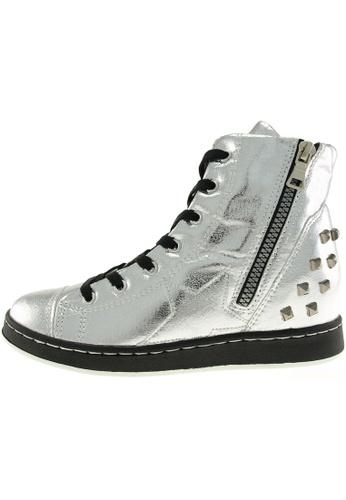 Maxstar 銀色 新款韩国鞋20H-7H-TC時尚皮革布混合女銀色 US Women Size MA345SH18HAFTW_1