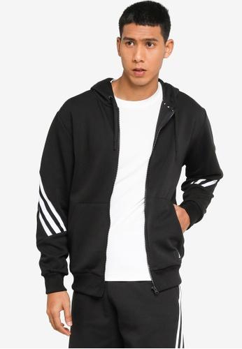 ADIDAS black sportswear future icons 3-stripes hoodie CA70CAA9EEC843GS_1