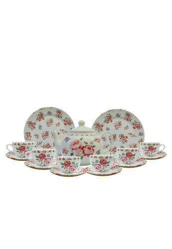 Claytan Fragrance Rose 16 PCS Hi- Tea set 158F6HL933DD37GS_1