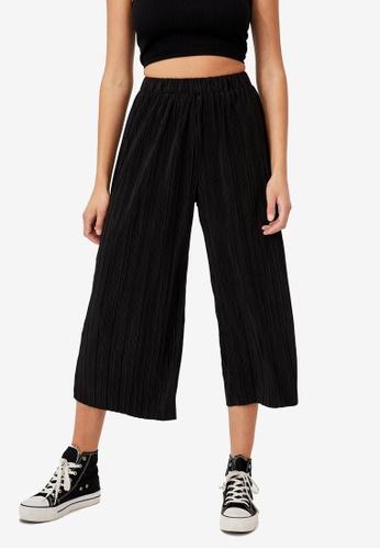 Cotton On black Poppy Pleated Pants 609CFAA8E33D8AGS_1