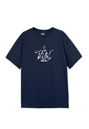 BSX blue BSX Unisex's regular fit printed logo tee (Online exclusive) (0409029861) F904DAAEEFA56DGS_1