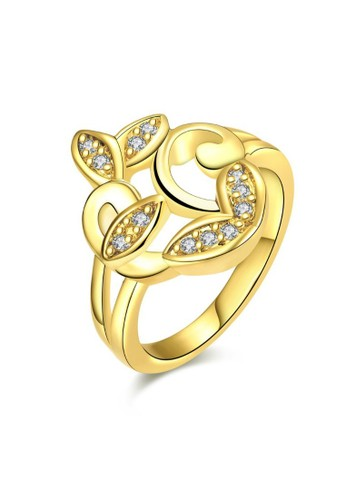 Tiaria yellow Tiaria Romantic Sophisticated Party Ring Gold Plated Aksesoris Cincin KZCR064-A-8--K09 696ABACEAA70D3GS_1