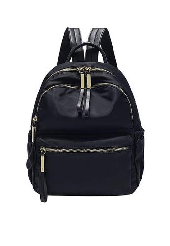 Twenty Eight Shoes black VANSA Nylon Oxford Backpacks VBW-Bp3651 71B71ACF1CDB30GS_1