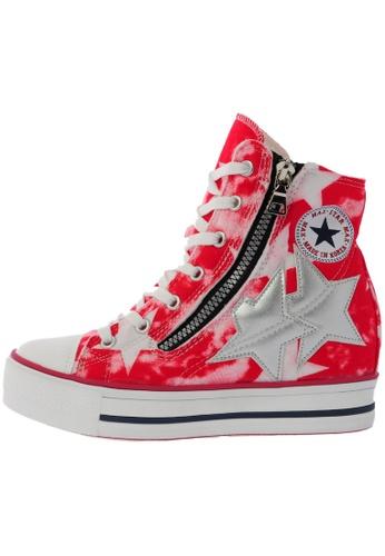 Maxstar C2 30 7 Holes Denim Single Line White Platform High Top Sneakers US Women Size MA168SH67DMEHK_1