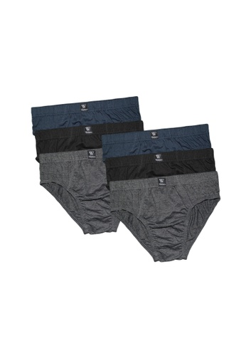 Walker Underwear multi 6 in 1 Cotton Comfort Men Low Rise Brief AE74AUS9C7C0BDGS_1