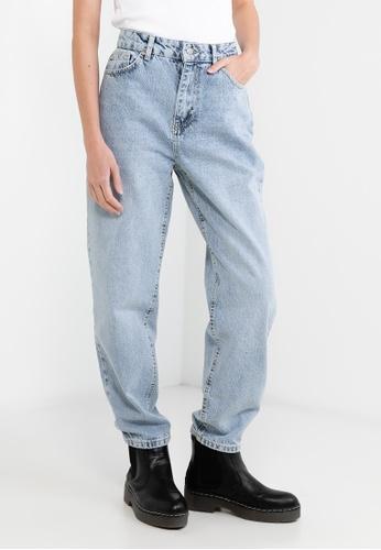 Trendyol blue Denim Wash High Waist Mom Jeans 06B90AA194D9C3GS_1