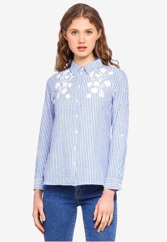 Dorothy Perkins blue Petite Blue Cornelli Shirt D73EBAA1A1D2B6GS_1