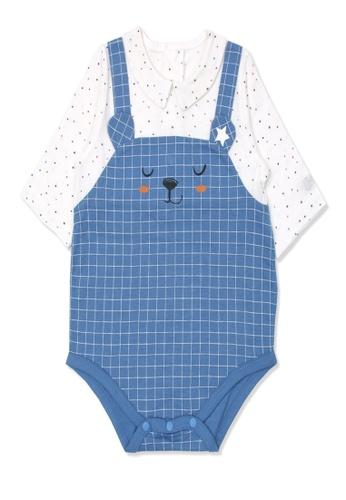 Organic mom blue Organic Cotton  Eddy Bear Onsie 1C72FKAC6592A7GS_1