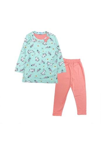 MELLOW blue Mellow Bunny Printed Sleepwear AADF6KAE6B795FGS_1