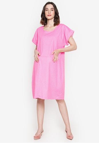Amelia pink Maternity Alicia Dress 071C6AA384FC3BGS_1