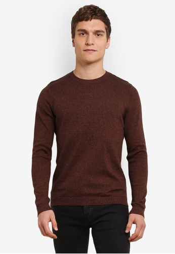 Topman brown Twist Jumper TO413AA0S7XYMY_1