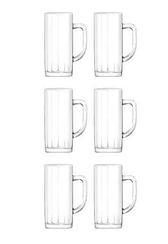 Union Glass n/a Thailand Premium Clear Glass Beer Mug Beer Lovers 375ml -13 oz Set of 6 FFD43HL38F933EGS_1