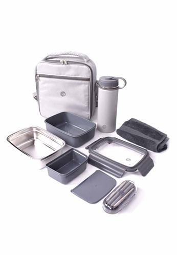 Slique grey Lunch Box Set 5pcs FC916HLBF4640BGS_1