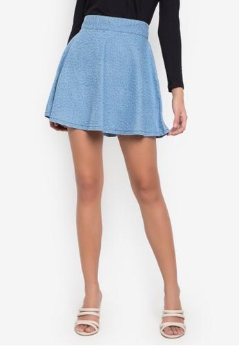 NEXT blue Leopard Print Skater Skirt B00B3AA361B10CGS_1