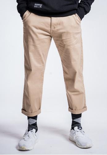 L.I.M.I.T.E 米褐色 斜紋布透明感闊褲 954E3AA34DB122GS_1