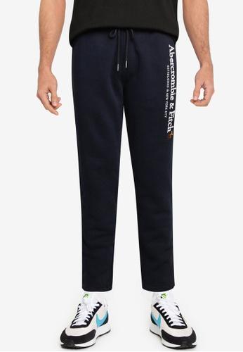 Abercrombie & Fitch navy Tech Logo Classic Global Pants DDD14AAEEBAFCBGS_1
