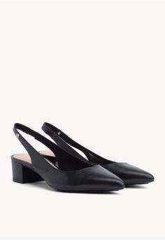 f2536c1cff62 Tommy Hilfiger black Dressy Leather Mid Heel Pump 2C3B3SH8B2FAE7GS 1