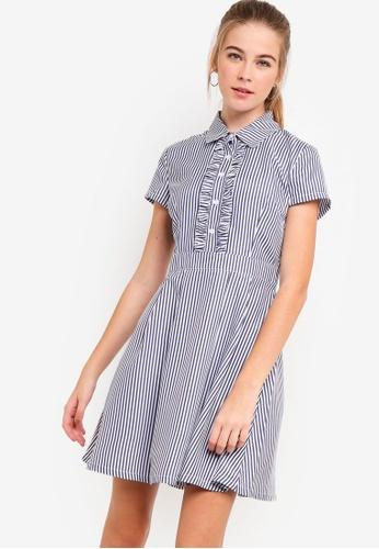 1d86db2ece2c Buy Something Borrowed Ruffles Front Shirt Dress Online on ZALORA Singapore