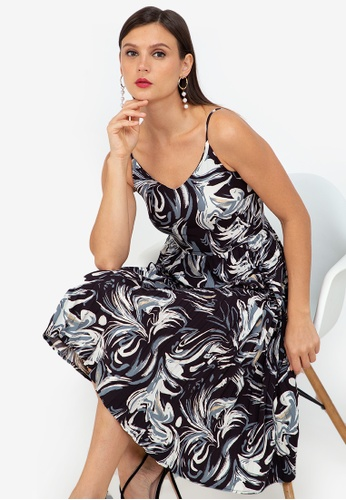 ZALORA WORK multi Pleated Skirt Cami Dress 464ABAAE6B7665GS_1