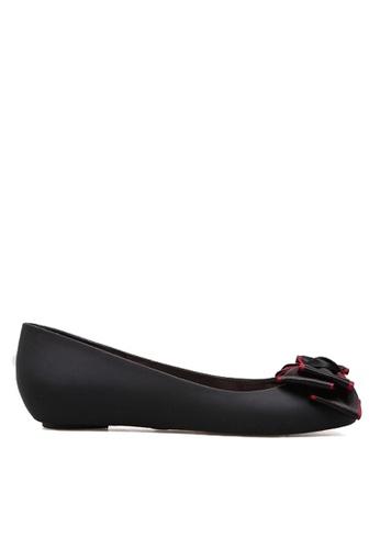 Twenty Eight Shoes 黑色 雙色蝴蝶果凍膠雨鞋 VR1838 C5DB8SH933523AGS_1