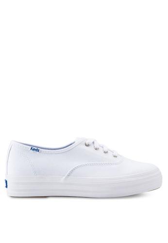 Keds white Triple Seasonal Solid Sneakers KE942SH88QJRMY_1