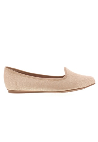 Beira Rio beige Classy Shine Pointed Slip On Flats BE995SH76ZITHK_1
