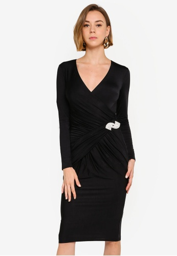 516d99e780d8c Shop Goddiva Diamante Brooch Midi Dress Online on ZALORA Philippines