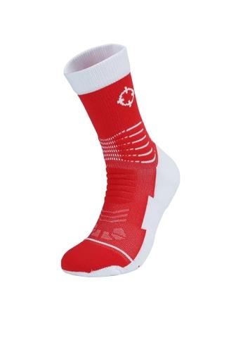 RIGORER red Rigorer Premium Max Cushioned Basketball Socks 4260BACB0863BAGS_1