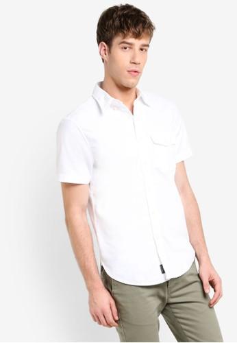 短袖襯esprit鞋子衫, 服飾, 襯衫